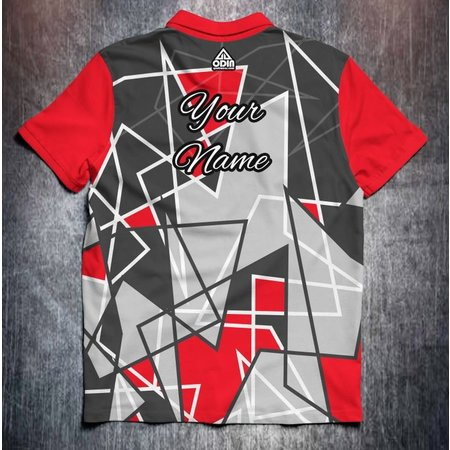 Odin Sportswear Abstract shapes Red Grey
