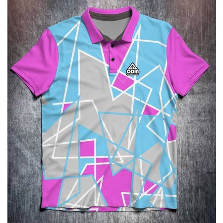 Odin Sportswear Abstract shapes Pink Blue