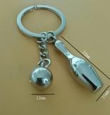 Schlüsselanhänger Metall Pin und Kugel