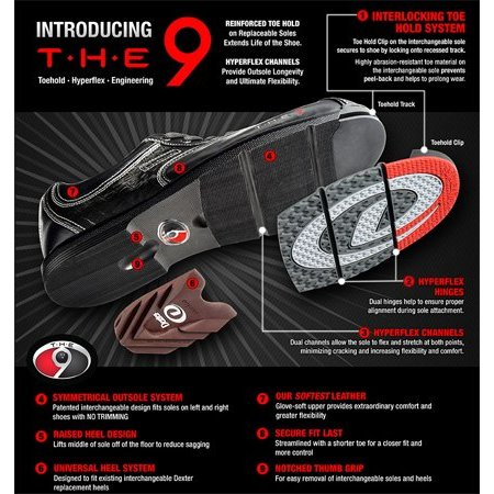 Dexter The 9 S9 Saw Tooth Sole, Longer Slide