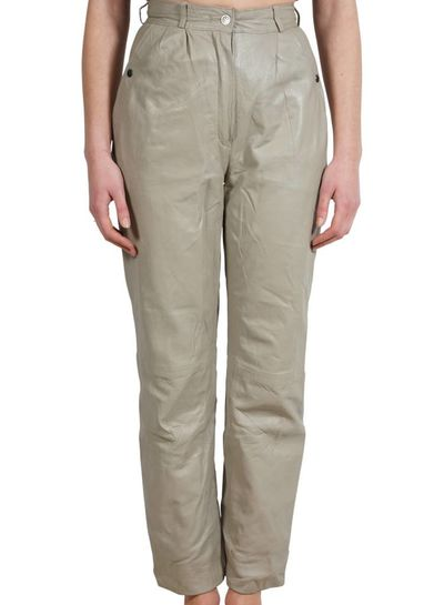 Vintage Pants: 80's Leather Pants Ladies