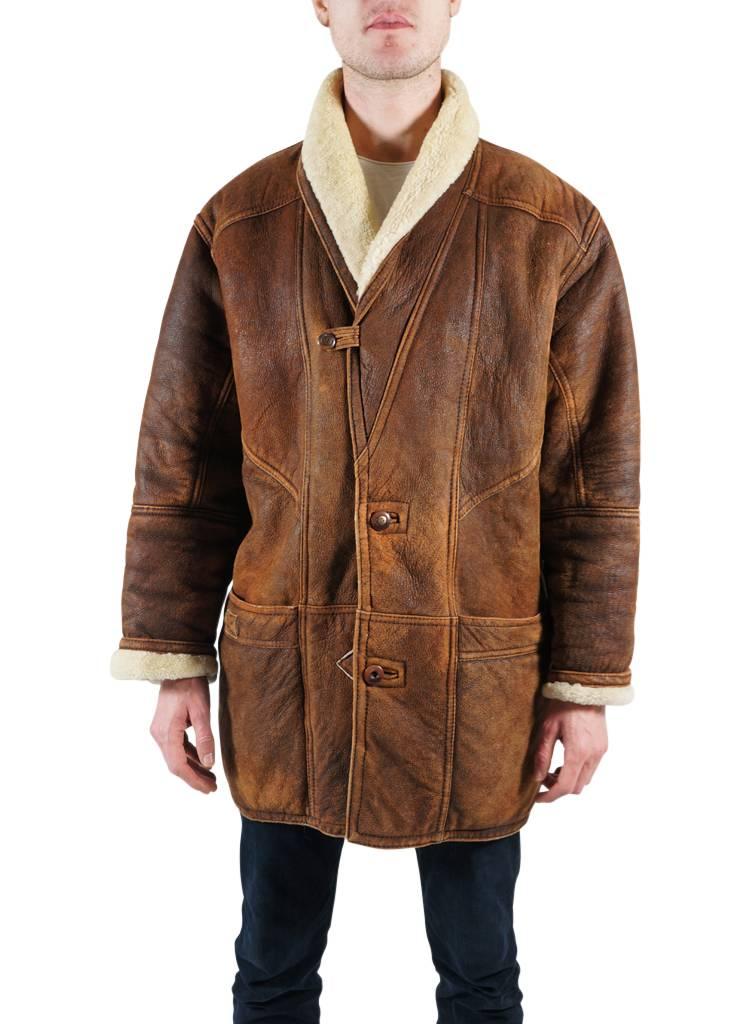 Vintage Coats 90 S Men Sheepskin Coats Rerags Vintage Clothing