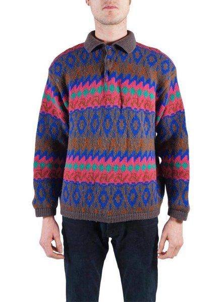Vintage Knitwear: Coogi Style Sweater