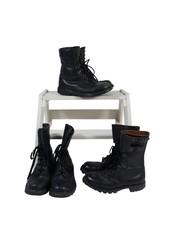 Chaussures Vintage: Bottes Militaires