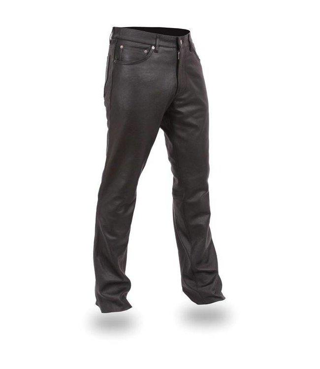 Vintage Pants: Leather Pants 5 Pocket