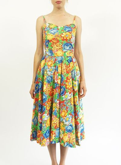 Vintage Dresses: French Flower Dresses