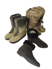 Chaussures Vintage: Bottes Fourrées