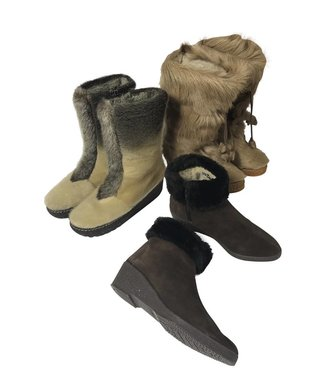 Vintage Shoes: Fur Boots