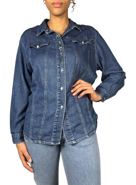 Vintage Tops: Jeans Blouses Ladies