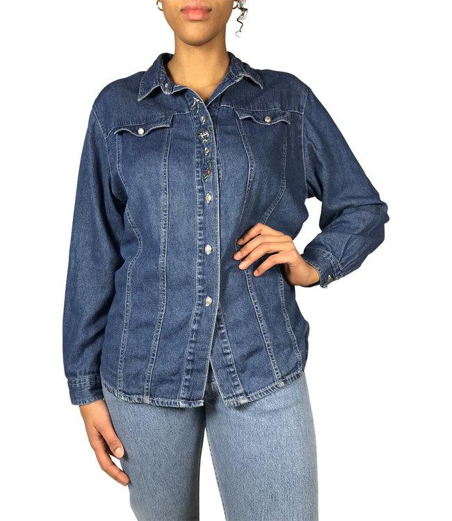 Hauts Vintage: Chemises en Jean pour Femmes