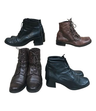 Vintage Shoes: Lace Boots
