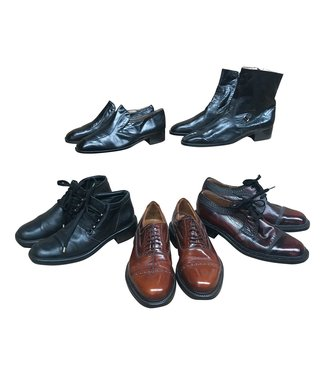 Vintage Shoes: Leather Men Shoe Mix
