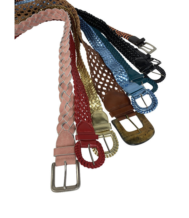 Vintage Belts: Braided Leather Belts
