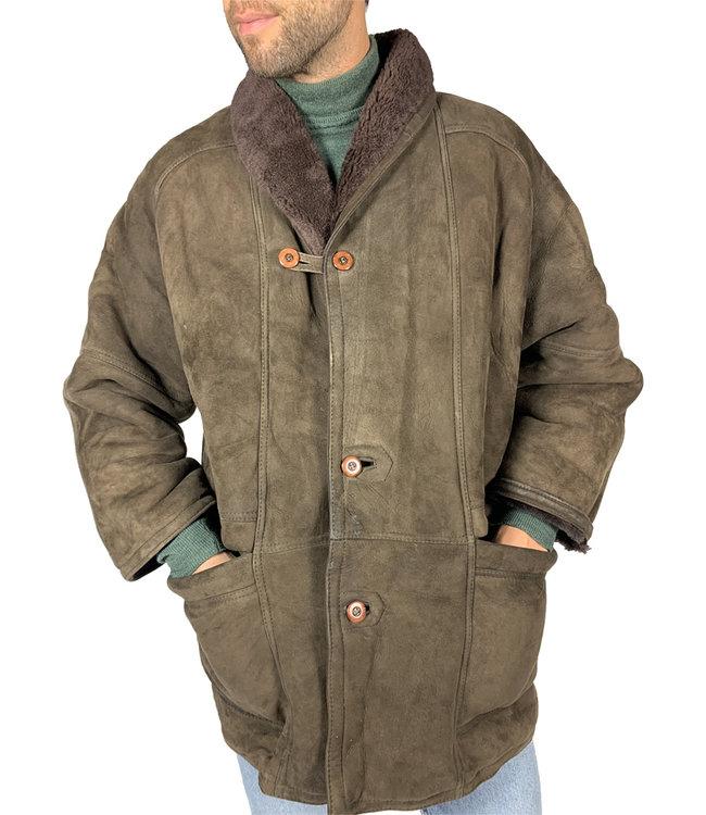 Manteaux Vintage: 90's Manteaux Peau de Mouton Hommes