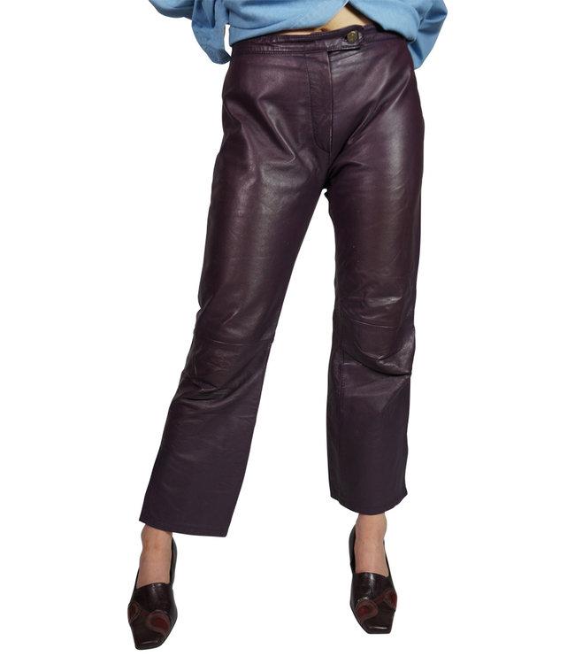 Pantalons Vintage: Pantalons en Cuir pour Femmes