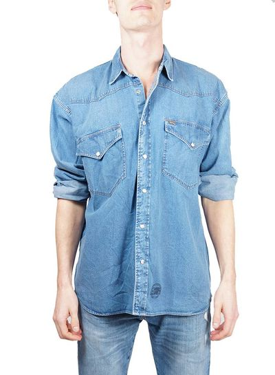 Chemises Vintage: Chemises en Jean Hommes
