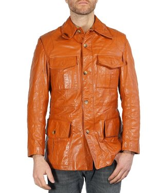 Vintage Jackets: 70's Nappa Leather Jackets Men