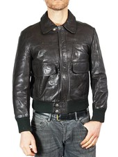 Vintage Jackets: Leather Zip Jackets