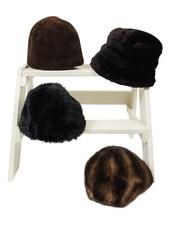 Chapeaux Vintage: Chapeaux en Faux Fourrure