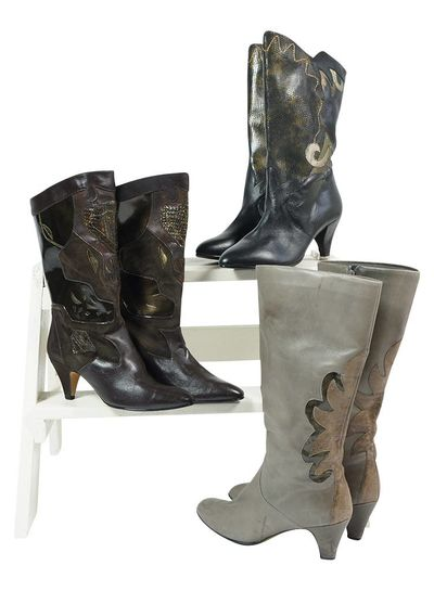 Chaussures Vintage: Bottes 80's