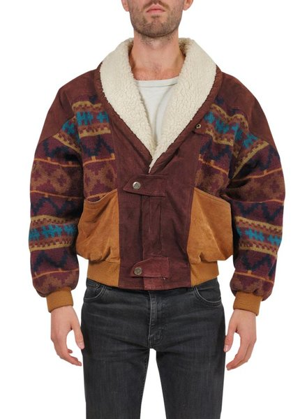 Vintage Coats: Navajo / Aztec Men Coat