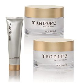 Mila d'Opiz Mila D'Opiz Skin Refine combinatie set van Rejuvenesse Cream, Lifting Eyecream en Creamy Cleansing Foam