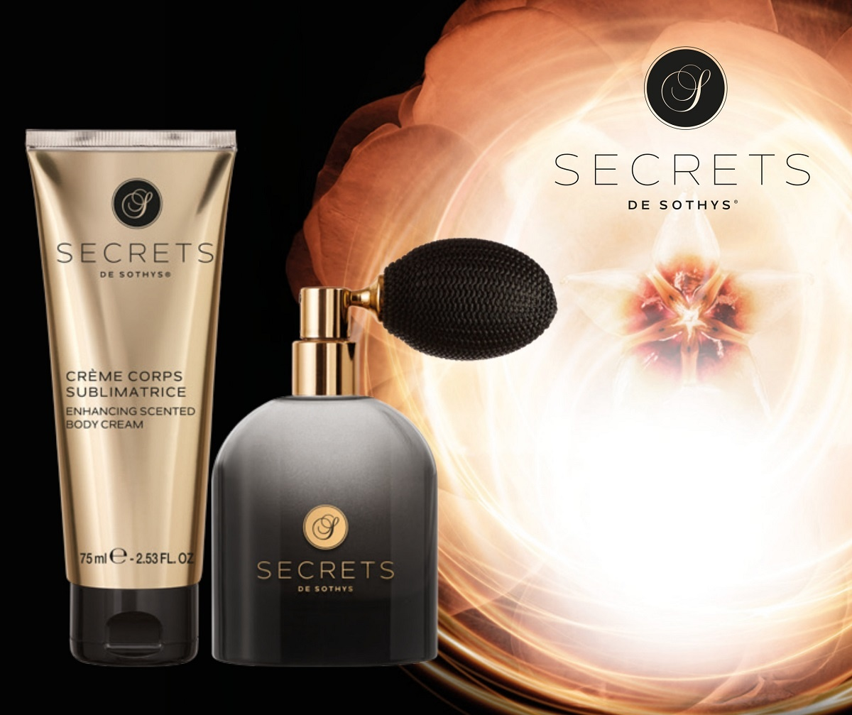 Sothys Secrets parfum  + sublimerende geurende body lotion( crème corps sublimateur) 50 ml + 75 ml
