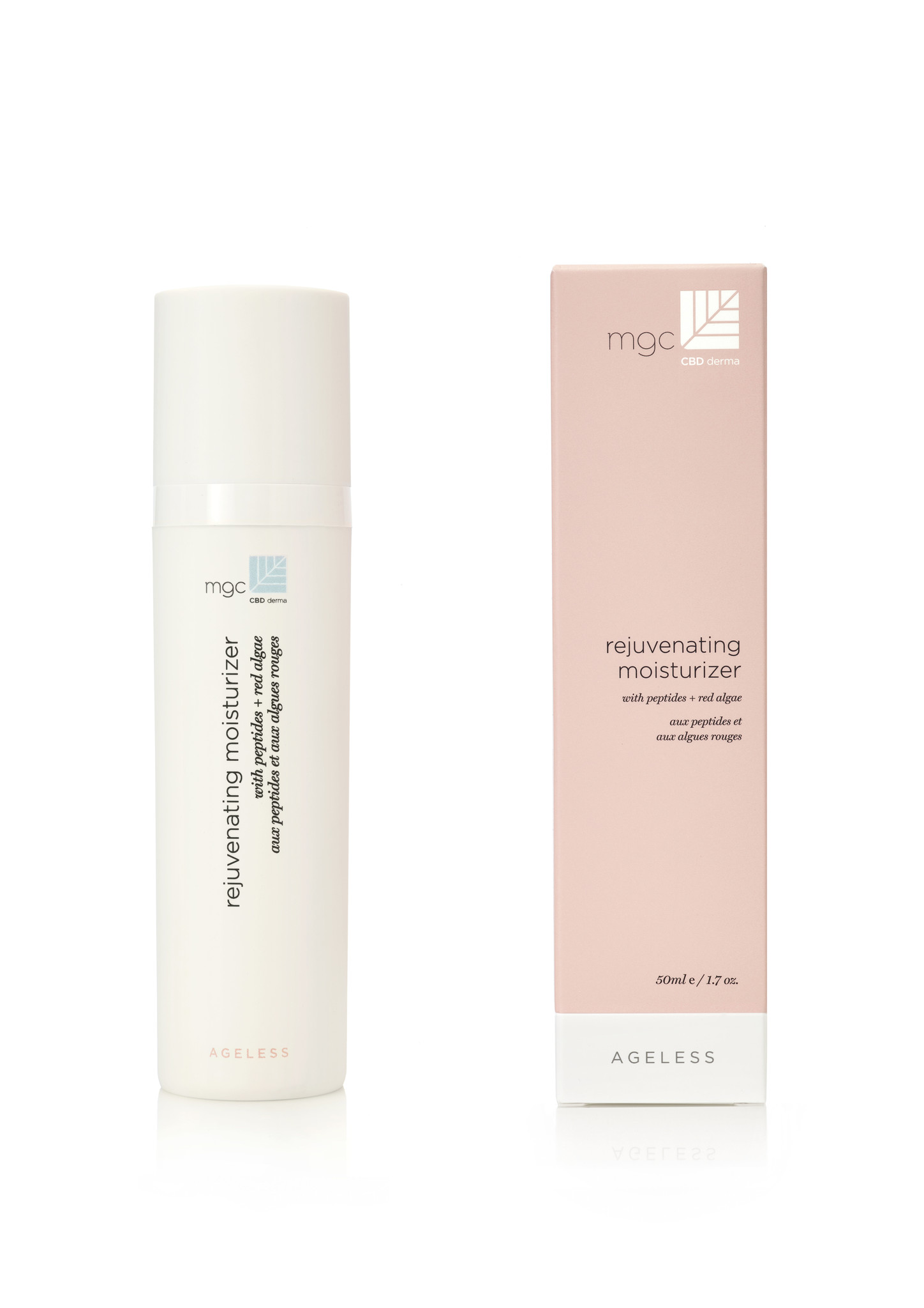 MGC Derma MGC cbd derma-AGELESS rejuvenating moisterizer 50 ml with peptides + red algae Normale/droge huid
