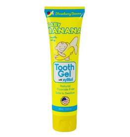 Baby Banana Brush Tooth Gel with Xylitol, strawberry-banana