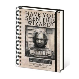 Harry Potter Wanted Sirius Black  - A5 Notebook