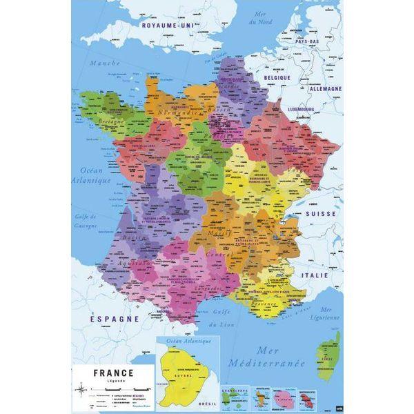 Carte de France Nouvelles Regions - Maxi Poster