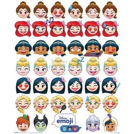 Disney Emoji Princess Emotions - Mini Poster