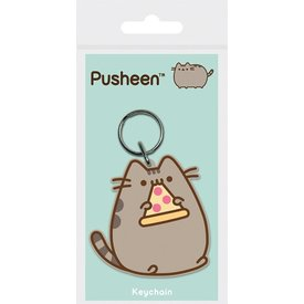 Pusheen Pizza - Keyring