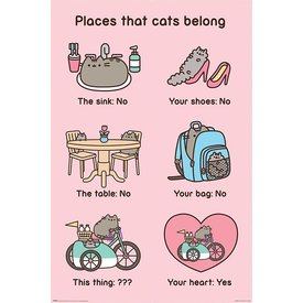Pusheen Places Cats Belong - Maxi Poster