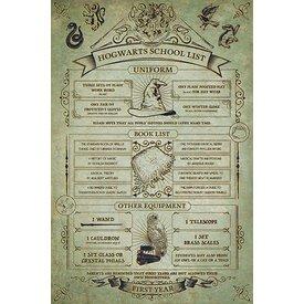 Harry Potter Hogwarts School List - Maxi Poster