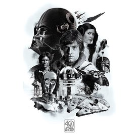 Star Wars 40th Anniversary Montage - Maxi Poster