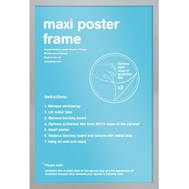 Frame 61x91,5 Silver Plastic