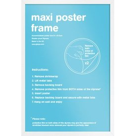 Frame 61x91,5 White Plastic
