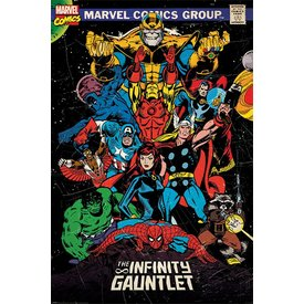 Marvel Retro The Infinity Gauntlet - Maxi Poster