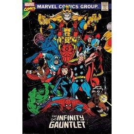 Marvel Retro The Infinity Gauntlet - Maxi Poster