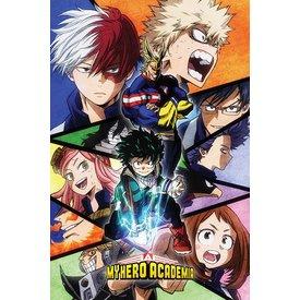 My Hero Academia Characters Mosaic Maxi Poster