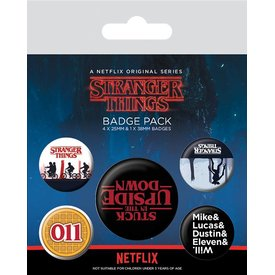 Stranger Things Upside Down - Badge Pack