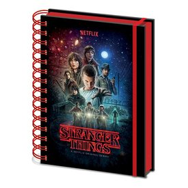 Stranger Things One Sheet - A5 Notebook