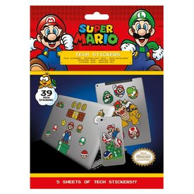 Super Mario Mushroom Kingdom- Tech Stickers