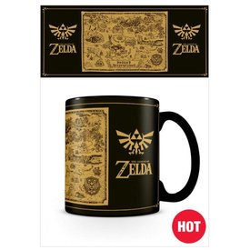The Legend of Zelda Map - Mugs thermo-réactifs