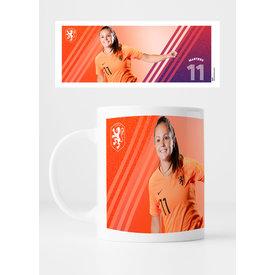 KNVB Leeuwinnen #11 Martens - Mug