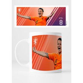 KNVB Leeuwinnen #8 Spitse - Mok