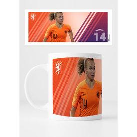 KNVB Leeuwinnen #14 Groenen - Mug