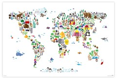 Products tagged with animal map of the world poster