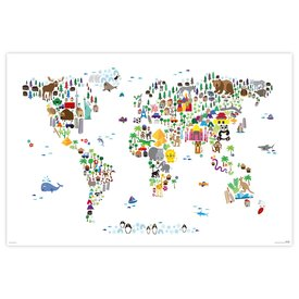 Animal Map Of The World - Maxi Poster